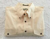Duck Head Expedition Mens LS Shirt Yellow ~ Cotton ~ XL Embroidered Label Vtg?