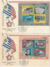 Uruguay aus 1975 ** postfrisch FDC Block 26, 27 200 Jahre Unabhängigkeit USA