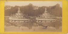 Versailles Bassin France Stéréo Stereoview Vintage albumine ca 1875