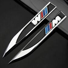 2pcs 3D Metall Auto Fenders Schriftzug Aufkleber Emblem für Dolch M Power sports