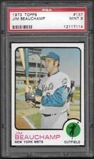 1973 Topps Jim Beauchamp #137 New York Mets PSA 9 Mint