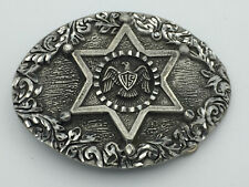 Boucle ceinture vintage US Eagle Star 1993 EGE Pewter Diamond Cut 2