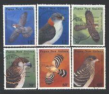 PAPUA NEW GUINEA Sc620-25 SG500-05 Used 1985 Birds of Prey set of 6 SCV$9