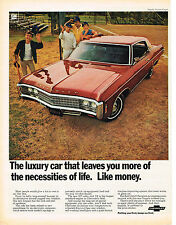 Vintage 1969 Magazine Ad Chevrolet Luxury Car That Leaves You More Necessities