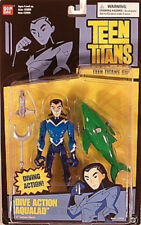 "Teen Titans Go! 5"" Dive Action Aqualad Figure With Porpoise Bandai (Moc)"