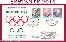 SAN MARINO FDC ROMA COMITATO OLIMPICO INTERNAZIONALE OLIMPIADE 1984 (418)