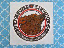 Beer Breweriana Sticker ~ BEAR ROOTS Brewing Co ~*~ Vista, CALIFORNIA Brewery