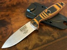 ESEE Knives Xancudo S35VN Blade Black and Orange G10 3D Scales No Hole XAN2-006