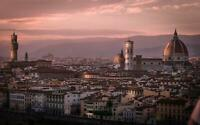 Florence Sunset Old City Italy Giant Print Art Poster - A5 A4 A3 A2 A1 A0 Sizes