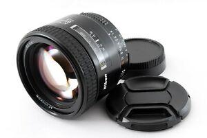 Nikon AF Nikkor 85mm f/1.8 Telephoto Lens W/Caps Tokyo Japan Tested