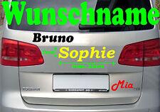 Wunschname Auto Aufkleber selber gestalten Schriftzug Beschriftung Name ca20x7cm