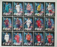 2020/21 Match Attax UEFA Champions - International Icons Shiny Sub-Set 15 cards
