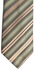 "Kenneth Cole Reaction Men's Silk Tie 59"" X 3.75"" Multi-Color British Striped"