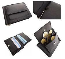 68c30b22c219c Leder Geldbörse Geldklammer Etui Dollarclip Geldbeutel Brieftasche Black   219