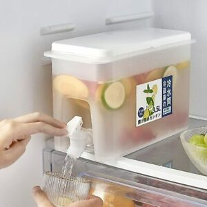 3.5L Drinks Dispenser With Tap Refrigerator for Making Teas and Juices BPA-Free