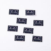 100/200/300St Hand Made Stoff Etiketten Tags Patches DIY Kleidung Nähen Bastel