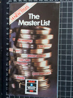 THE MASTER LIST Very rare CATALOGUE RCA Columbia Video VHS Australian VHS Shop