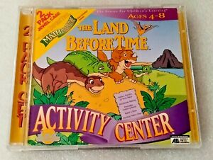 The Land Before Time Activity Center / Math Adventure (PC Windows/Mac 1998) 2 CD