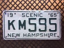 1965 NEW HAMPSHIRE LICENSE PLATE KM595