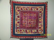 Antique Oriental c19th Century Hand Done Tapestry Blanket Wall Hang