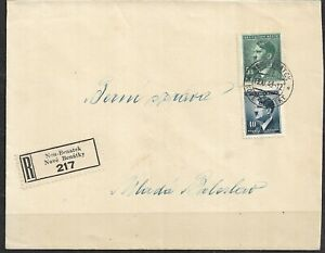 Bohemia and Moravia, german occupation WWII, Registered letter 1943