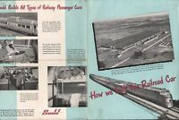 VINTAGE 1948 BUDD RAILWAY CAR BROCHURE HOW WE BUILT THIS RAILROAD PHILADELPHIA