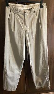CK Calvin Klein Jeans Beige Khakis Trousers Straight Chinos W34 L34 100% Cotton