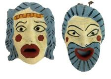 Greek Reproduction Theatrical Comedy Tragedy Masks Euripide Play Theatre Small