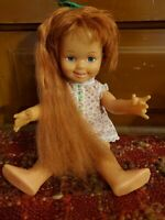 "1972 Ideal 12"" Cinnamon Doll, from Crissy Family w/ Grow Hair & 2 Dresses"