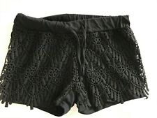 Black Lace shorts - size 8