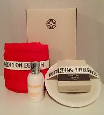 MOLTON BROWN ULTRA PURE MILK SOAP & SOAP DISH & FACE CLOTH GIFTSET  (BB7.2M4)