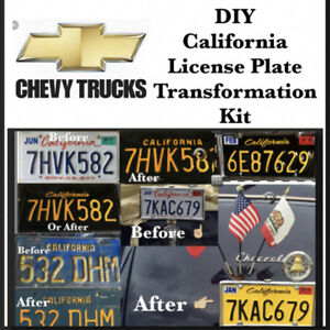 DIY CALIFORNIA Legacy License Plates Chevy CLASSIC TRUCK