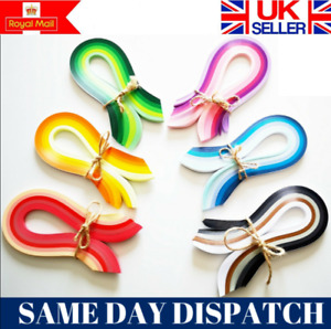 5mm DIY 200 Quilling Paper Strips Craft Quality *UK SELLER* Christmas decor kit