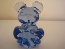Us Commemorative Fine Art Gallery Blue Glass Koala or Teddy Bear Figurine