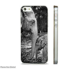 CUTE BABY ELEPHANT CLEAR PHONE CASE FITS IPHONE 4 5 5S  5C 6 6S SE 7 & PLUS