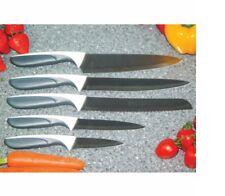 JEAN PATRIQUE PROFESSIONAL  5 PIECES TITANIUM KNIFE SET - WHITE & GREY HANDLES