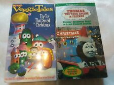 New Sealed 2 Christmas VHS tapes Veggie Tales Thomas the Train