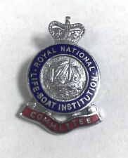 More details for vintage badge royal national lifeboat institute committee pin badge