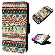 Aztec Pattern - Flip Phone Case Wallet Cover Fits Iphone & Samsung