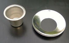 4 Steel tapered candlestick cup and collar inserts for woodturners and crafters