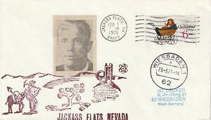 1971 USA cover Apollo Program - sent from Jackass Flats Nevada