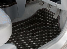 MG ZT XT-TI (2001 TO 2007) TAILORED RUBBER CAR MATS WITH BLACK TRIM [3188]