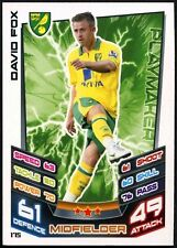 David Fox Norwich #175 TOPPS MATCH ATTAX FOOTBALL 2012-13 TRADE card (C440)