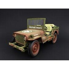 WILLYS ARMY JEEP-MILITARY POLICE WEATHERED 1:18 Scale American Diorama AD-77406A