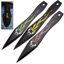 Flaming Skull Demon Dart Ninja 3 Piece Target Throwing Knife Colorful Dart Set