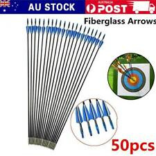 "50pc 31"" Fiberglass Arrows Archery Hunting Target Compound Bow Fiber Glass Bows"