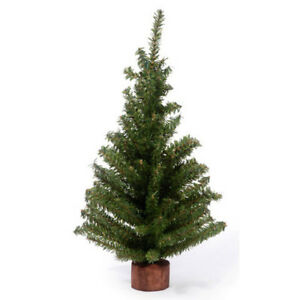 Darice Artificial Canadian Pine Tree Wood Base 5 1/2 inch Tabletop  32 tips