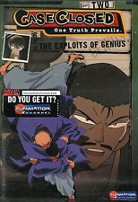 Case Closed - Vol. 2.1: The Exploits of Genius - New Factory Sealed Dvd