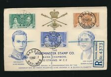 1937 KG6 CORONATION ILLUSTRATED FDCs BR.COMMONWEALTH COUNTRIES WESTMINSTER ENVS