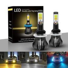 2Pcs Dual Color 880/881 LED COB Bulbs Car Driving Fog Light Lamp White/Yellow